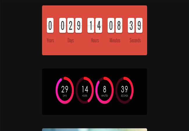 Soon - Beautiful JS Animated Responsive Countdowns