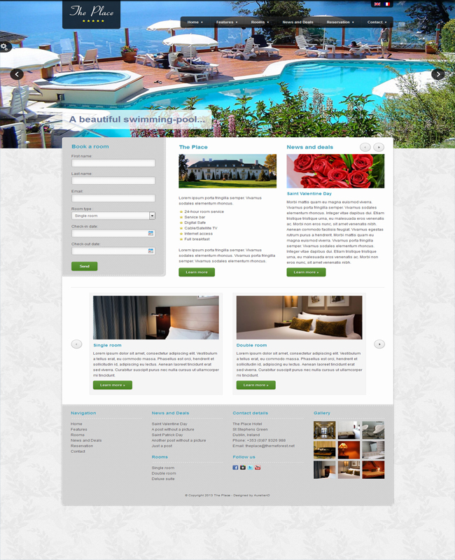 The Place - Online Travel Booking , Hotel WordPress Theme
