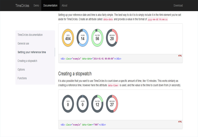 TimeCircles - Free jQuery Circular Coundown plugin