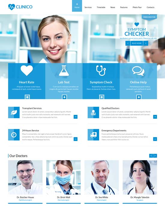 Clinico - Responsive Medical and Health Website Template