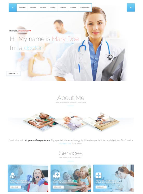 Cured - Bootstrap One Page HTML/CSS Template
