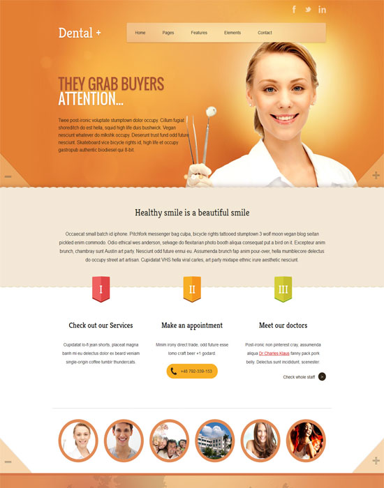 Dental+ HTML Website Template
