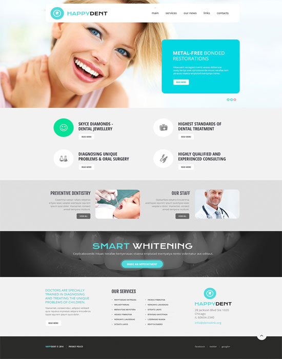 Dentistry Responsive HTML Website Template