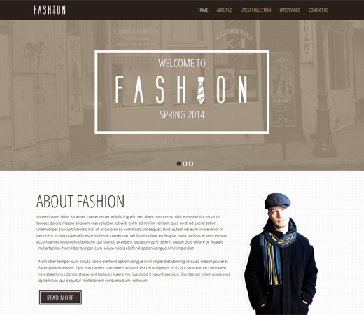 Fashion Spring a Personal Portfolios Flat Responsive Web Template