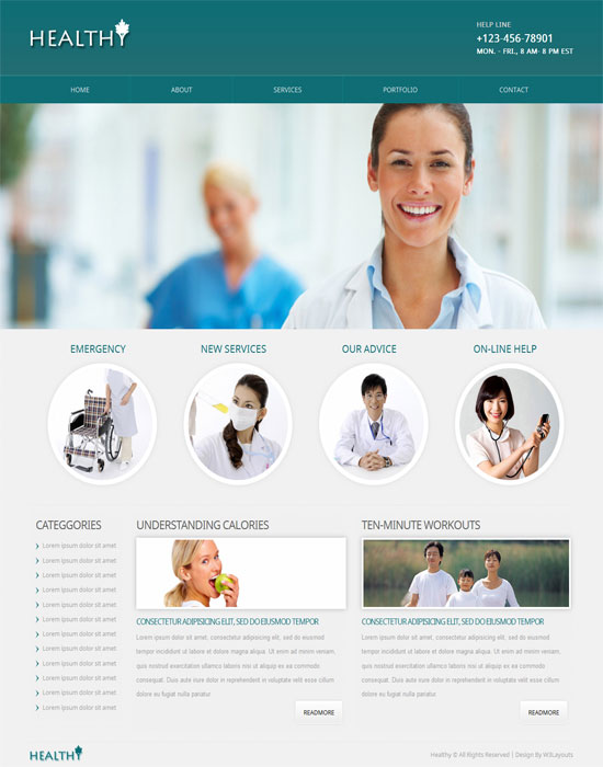 Free Healthy Mobile Website Template