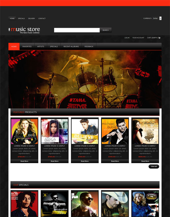 Free Music Responsive Website Template