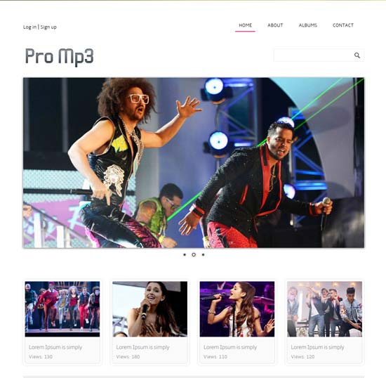 Free Promp3 online shopping music Website Template