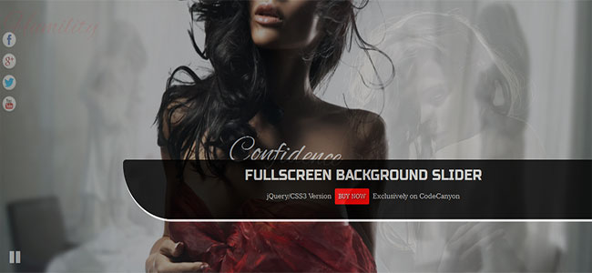 FullScreen Background Slider - jQuery SlideShow – Premium
