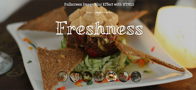 Fullscreen Image Blur Effect with HTML5