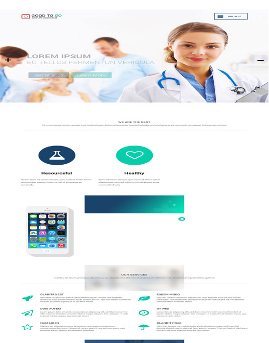 Good a Singlepage Medical Category Flat Bootstrap Responsive web template