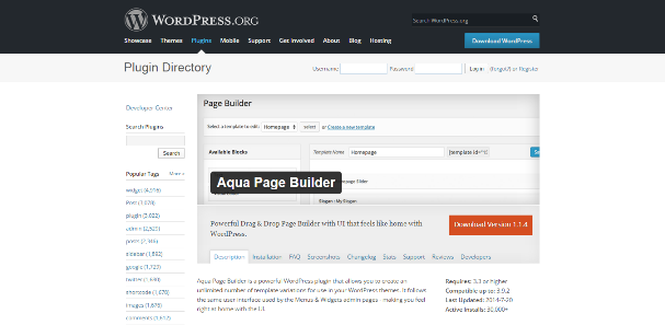 Aqua Page Builder - wordpress drag and drop page builder