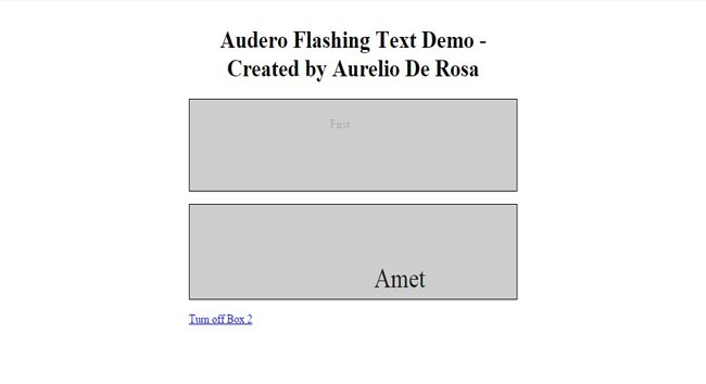 Audero - Flashing-Text - jQuery flash animation Text effect Plugin