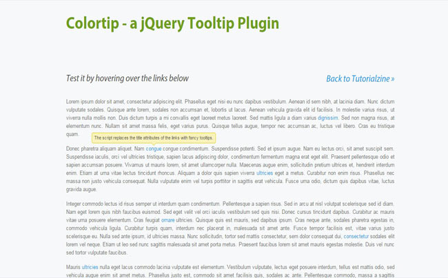 Colortip - Free colorful jQuery Tooltip Example