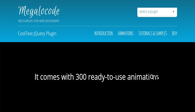 Cool Text – Incredible Text Animation jQuery Plugin