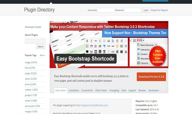 Easy Bootstrap Shortcodes wordpress Plugin Free