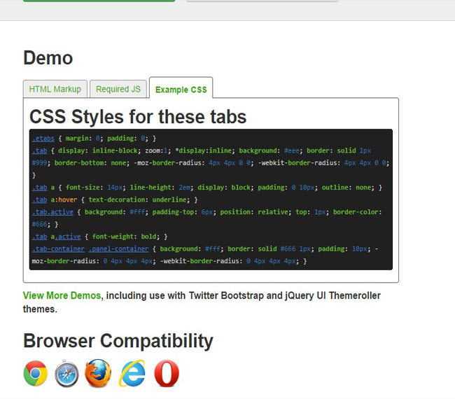 EasyTabs - Easy and flexible jQuery tabbed