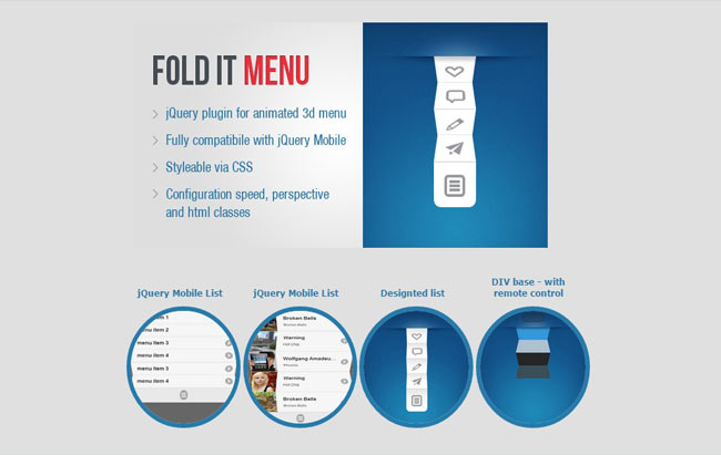 Fold - jQuery Animated 3D Navigation