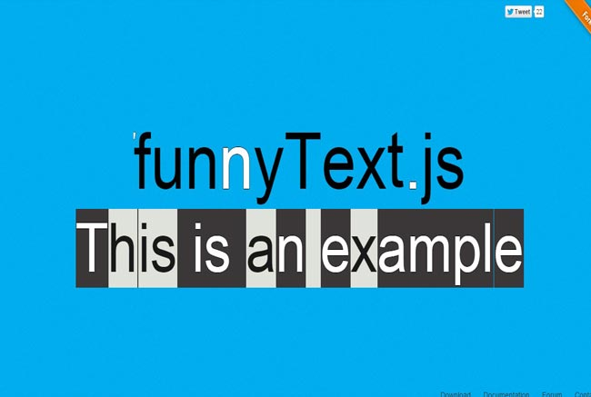 Funny Text.js - Simple jQuery Plugin for create funny and crazy moving text effect