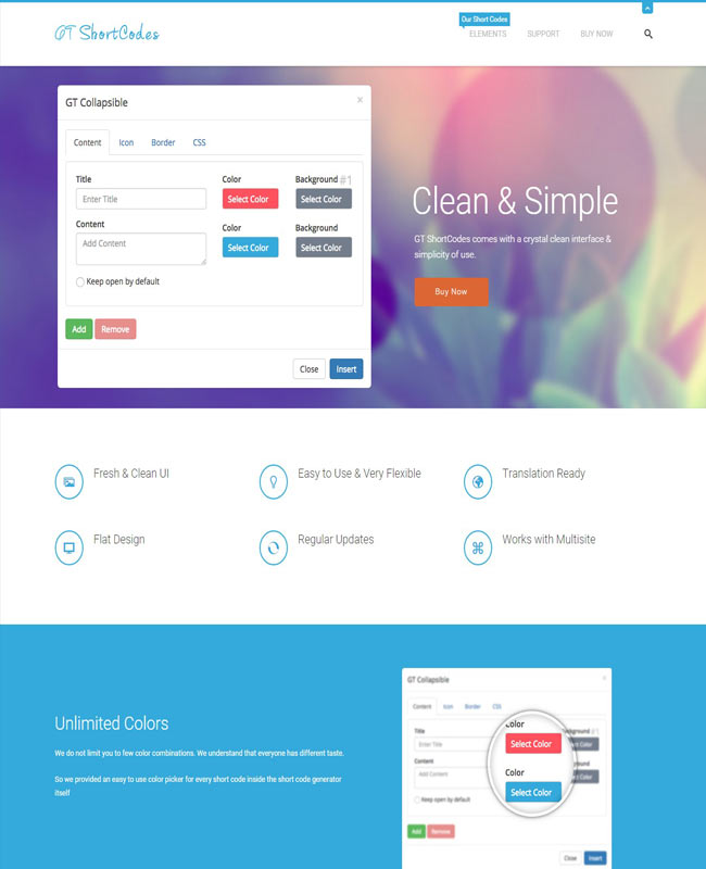 GT ShortCodes - Simple, clean Flat & Awesome WordPress Plugin