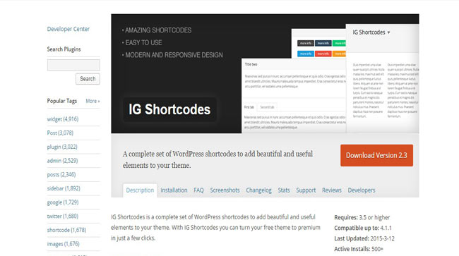 IG Shortcodes - A Complete set of Free wordPress Plugin