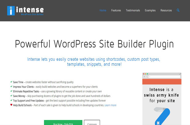 Intense - Essential Shortcodes and Site Builder for WordPress