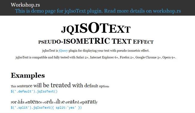 JQISOTEXT - jQuery plugin for displaying your text with pseudo-isometric effect