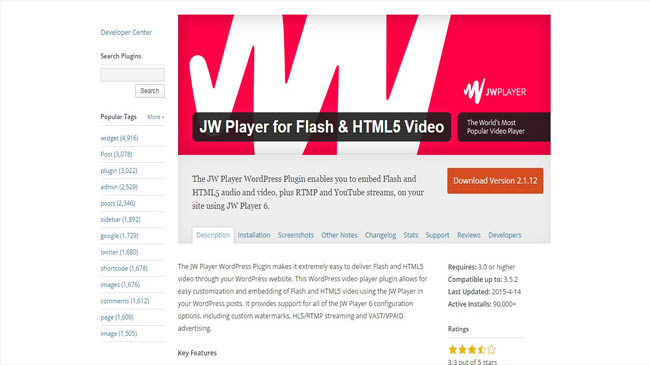 JW Player WordPress Plugin for Flash and HTML5 Video