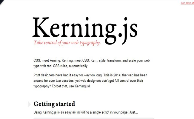 Kerning.js – Cool Text Effect web Typography Plugin