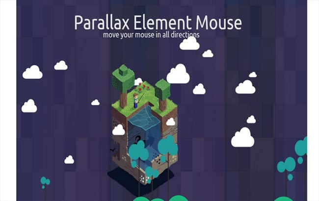 Mouse - Parallax animation Element on mouse movement