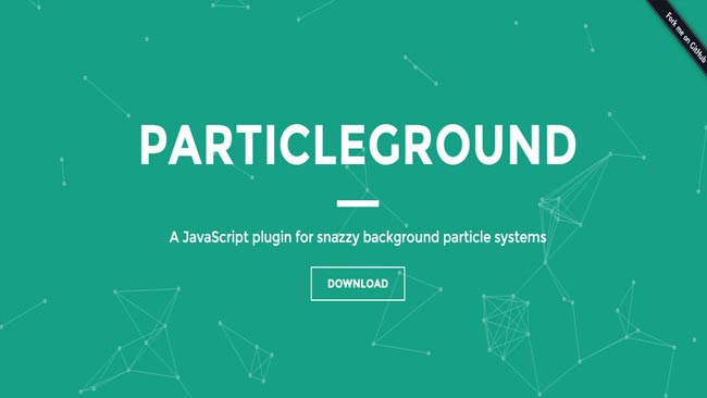Particleground - A JavaScript plugin for snazzy background particle systems