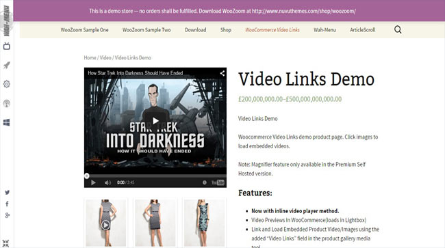 Product Embedded WooCommerce Video Links