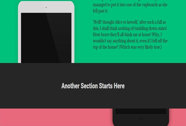 ScrolDown - Parallax background Scrolling Effect with css