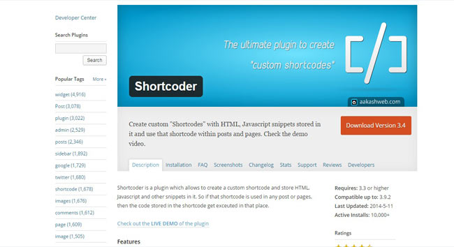 Shortcoder - The Ultimate Free wp Plugin for create Custom shortcodes
