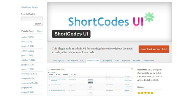 Shortcodes UI – Free Admin UI for Creating Shortcodes without any Code