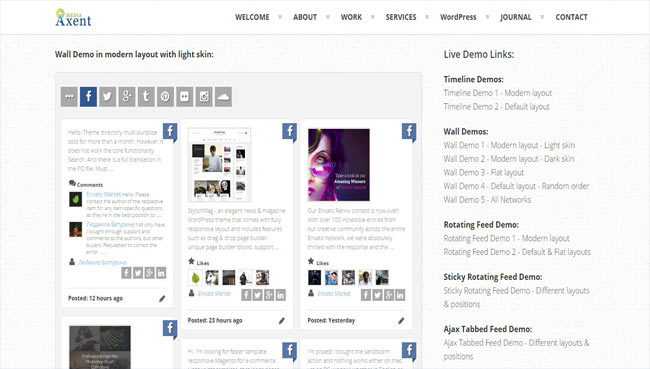 Social Board - Creative Social Networking Feeds Plugin