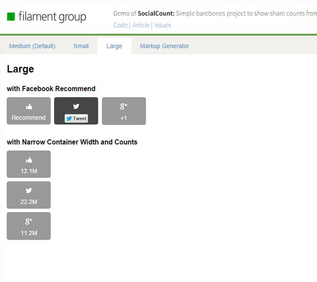SocialCount - Show social share counts from various social networks