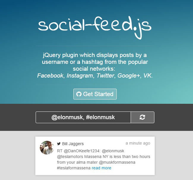 SocialFeed - Shows a user feed from the most popular social networks