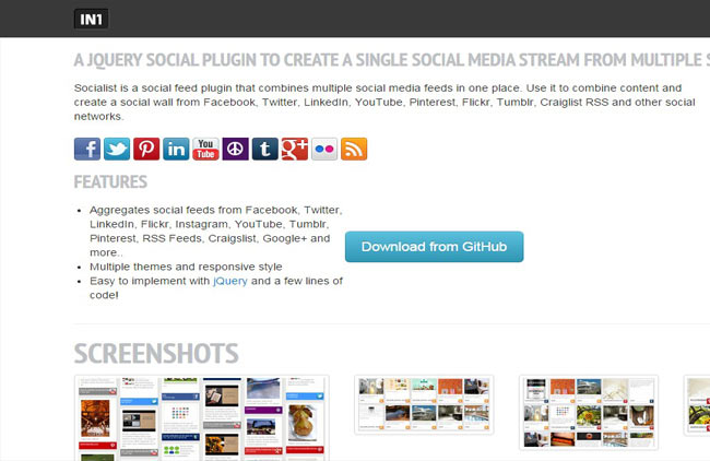 Socialist - Social sharing plugin with jQuery