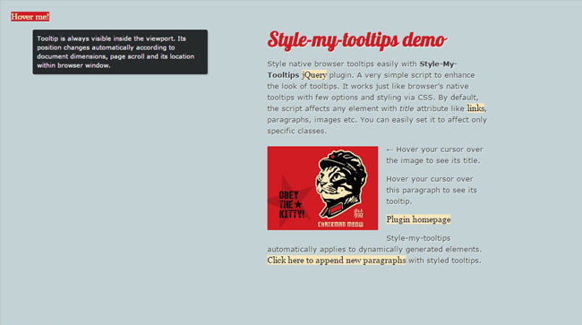 StyleTooltips - Free My tooltips jQuery plugin
