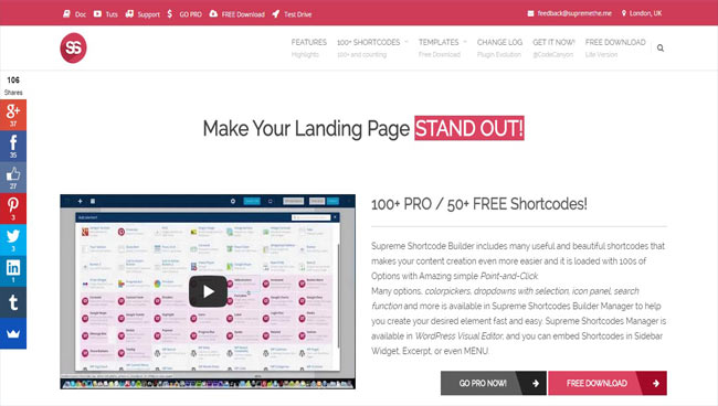 Supreme Shortcodes – Powerful Shortcode Builder Plugin with Preview