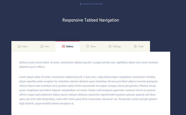 Tabbed Navigation - Tab jQuery Plugin with mobile device supported