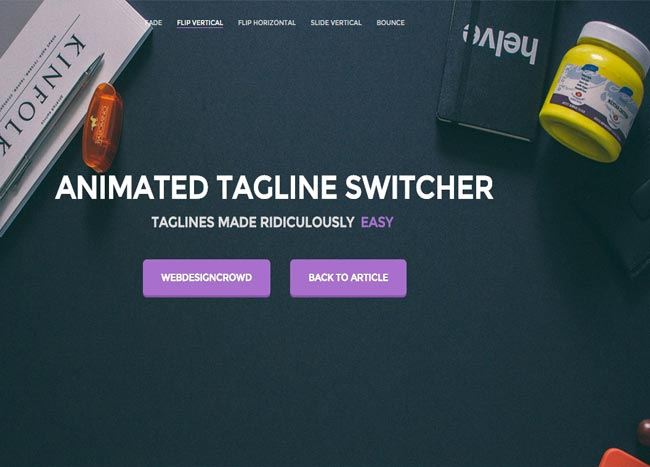 Tagline Switcher - Fast Affordable Animated Tagline Switcher Plugin