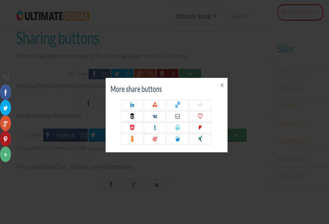 Ultimate Social Deux - Easy to use WP social plugin