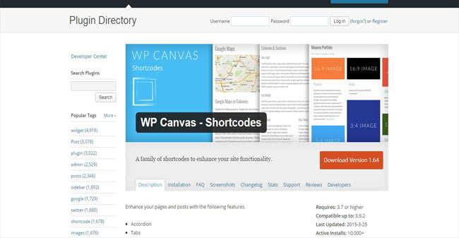 WP Canvas - Enhance your page and Post with Shortcode