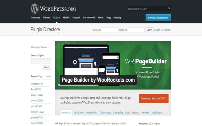WR Page Builder - Build Free Complete WordPress Website