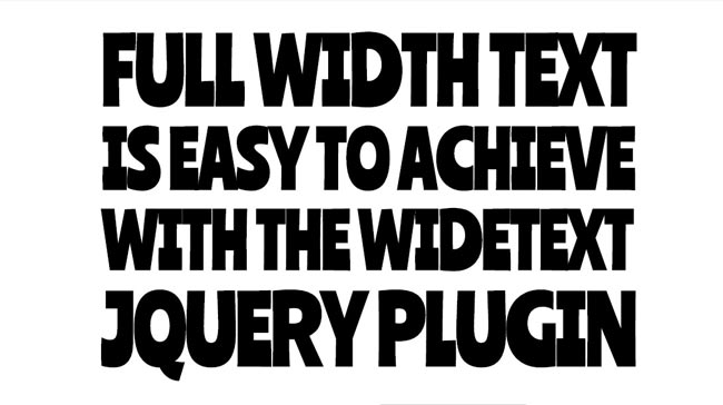 Wide Text - Free Full width Text Effect jQuery Plugin