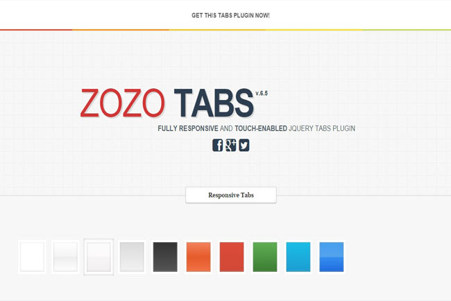 Zozo - Fully customizable , user friendly Responsive jQuery Tab