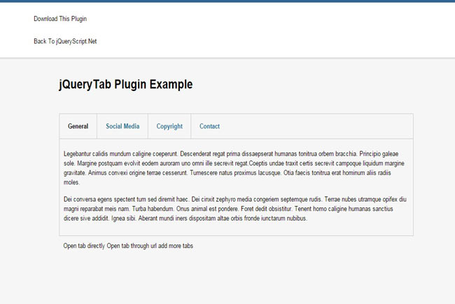 jQuery Tab – Simple Responsive Tabs jQuery example