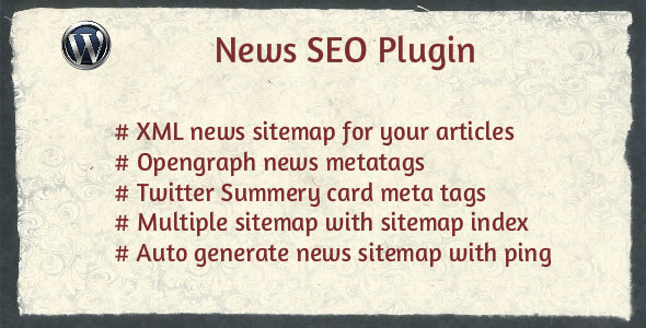 News SEO - Create Xml news sitemap for you news articles