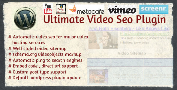 Ultimate Video SEO - Multiple sitemaps for larger video sites plugin
